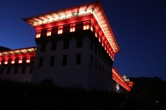 Dzong de Thimphu de nuit