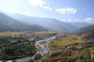 Vue depuis le Dzong de Paro