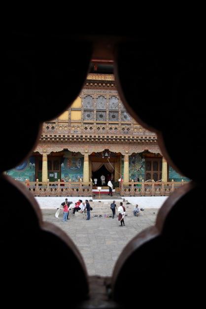 Entrée temple Punakha
