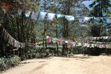 Drapeaux à prière tibétains