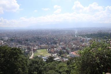Vue panoramique de Kathmandu