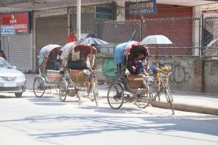 Rickshaws népalais