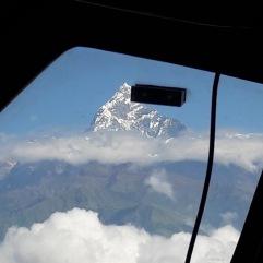 Vue montagne depuis l'avion