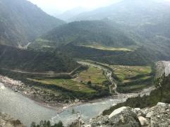 Rizières au bord de la rivière