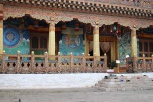 Entrée temple mandalas/roue de la vie