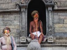 Sadhus au temple Pashupatinath