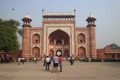 La porte d'entrée du Taj Mahal