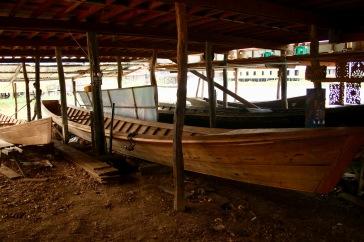 Fabrication des bateaux du lac Inle