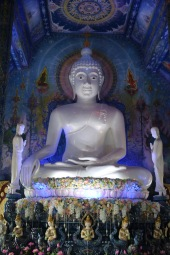 Bouddha temple bleu