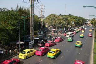 Taxis colorés de Bangkok