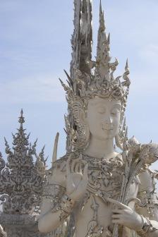 Statue white temple