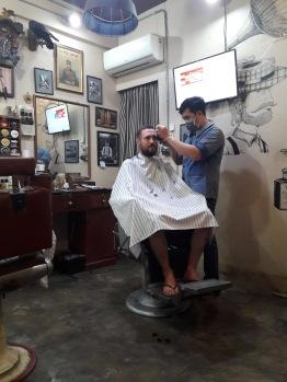 Chez le barbier à Chiang Mai