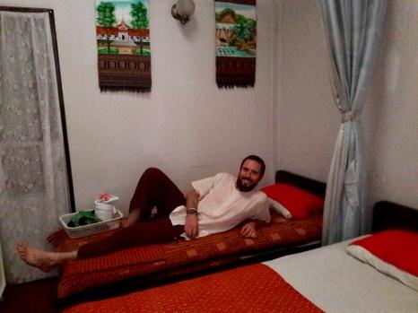 Avant le massage thaï