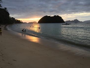 Coucher de soleil du 1er janvier-l'as cabanas beach