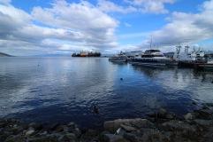 Vue du port d'Ushuaia