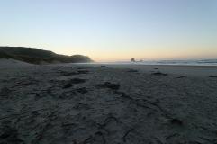 Sandfly Bay au lever de soleil