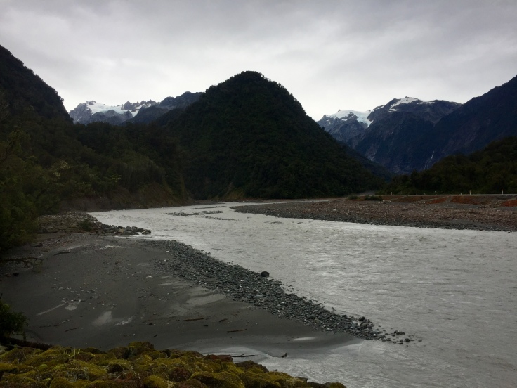 Vue sur les glaciers après la tempête