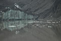 Un bout du glacier Hooker