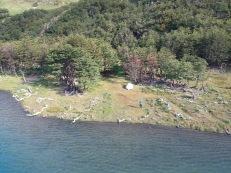 Vue du campement avec le drone