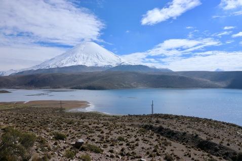 Volcan Parinacota enneigé
