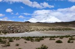 Volcan pomperade et Parinacota