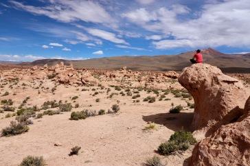 Julien dans le désert de pierre