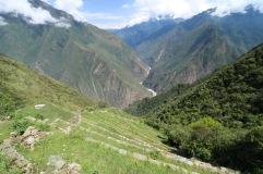 La vallée depuis le Choquequirao