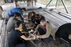 Préparation pan de yuca
