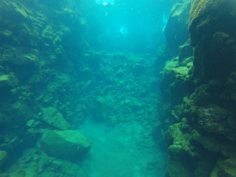 Vue sous-marine de Las Grietas